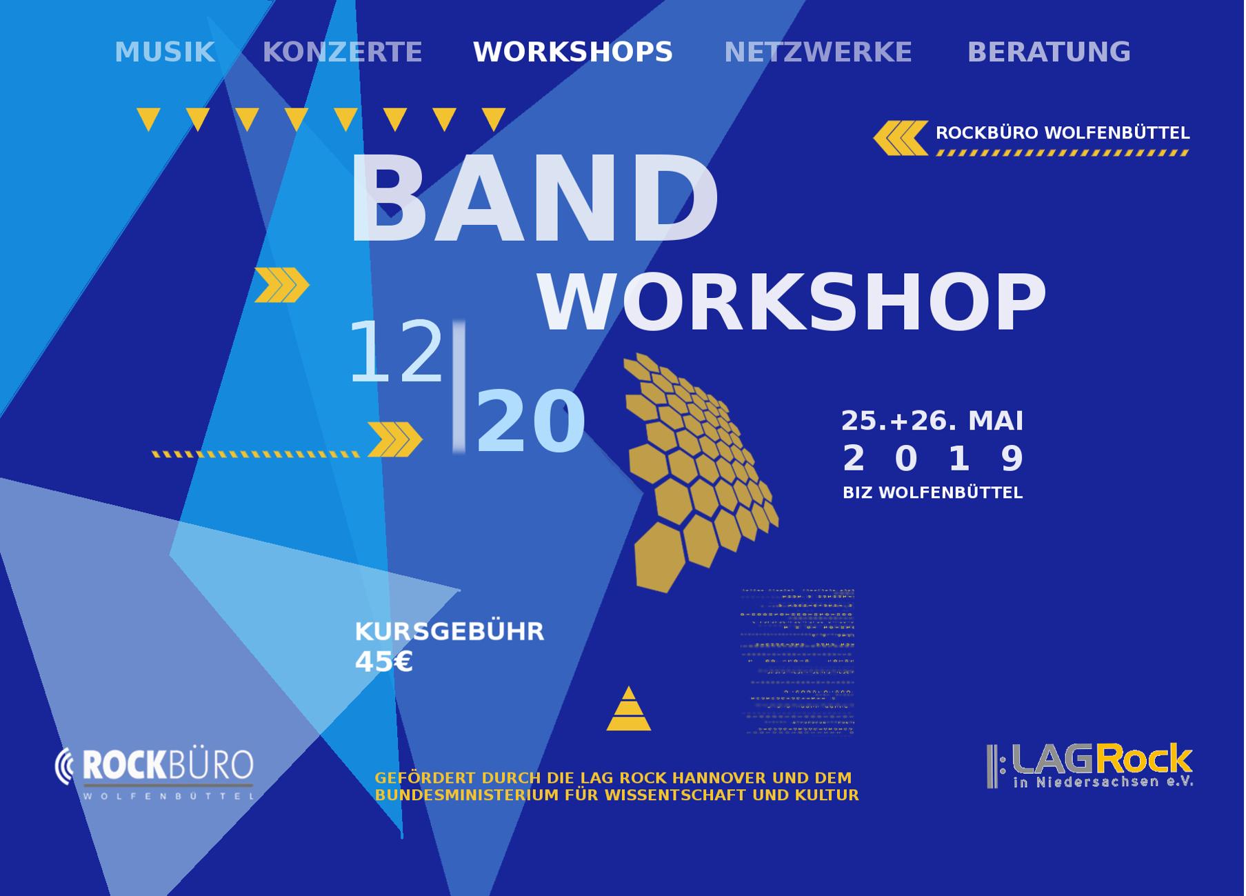 Bandworkshop 25.05.-26.05.2019