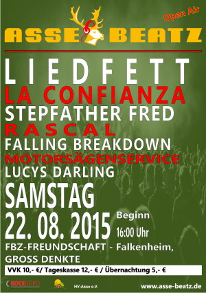 AsseBeatz am 22 August 2015 in Gross Denkte