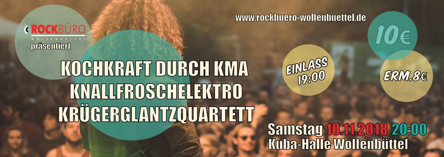 KKK - Kochkraft durch KMA/Knallfroschelektro/Krügerglantzquartett