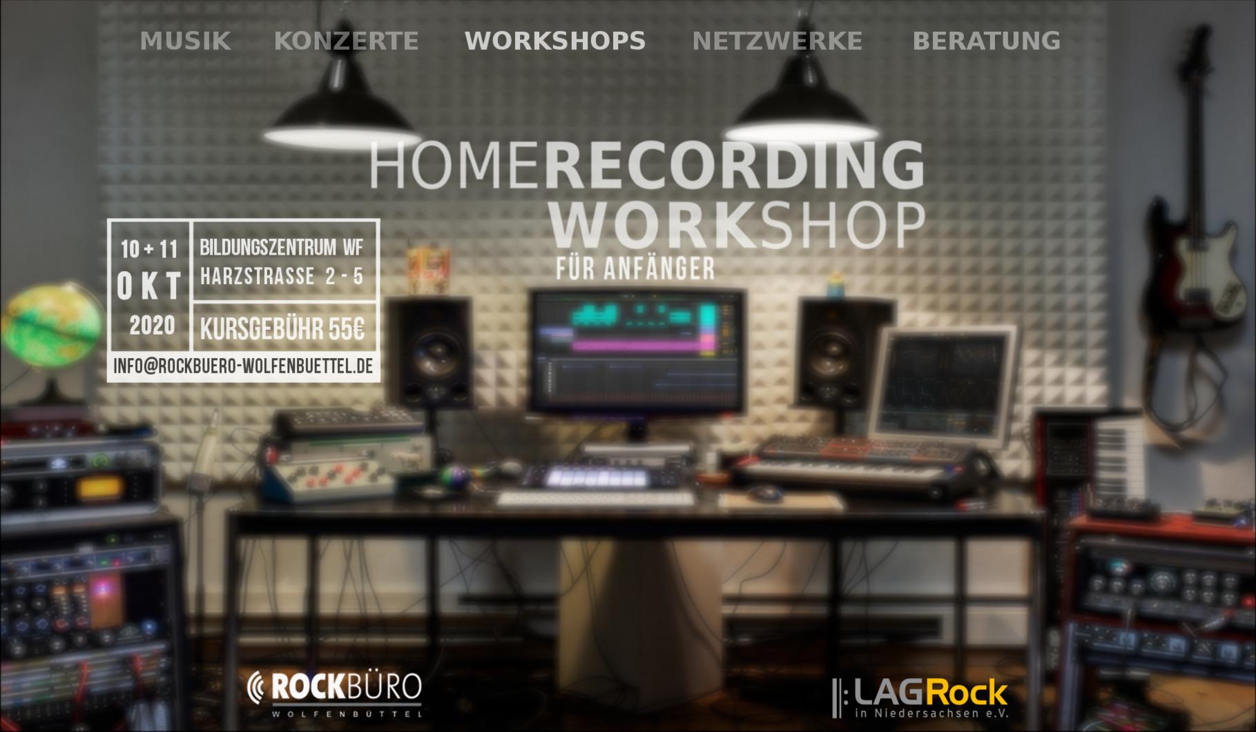 Homerecording Workshop für Anfänger